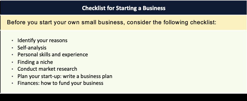 """Tabelul 5.2 Sursa: """"10 pași pentru a începe afacerea dvs."""", https://www.sba.gov, accesat la 2 februarie 2018."""